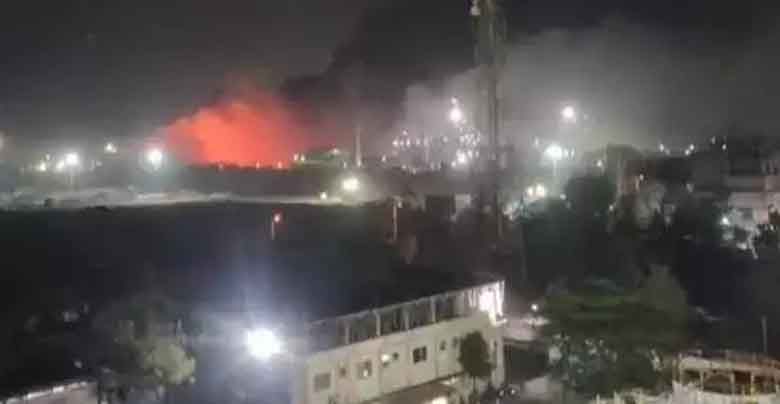 fire breakout in a chemicaal factory at gujrat