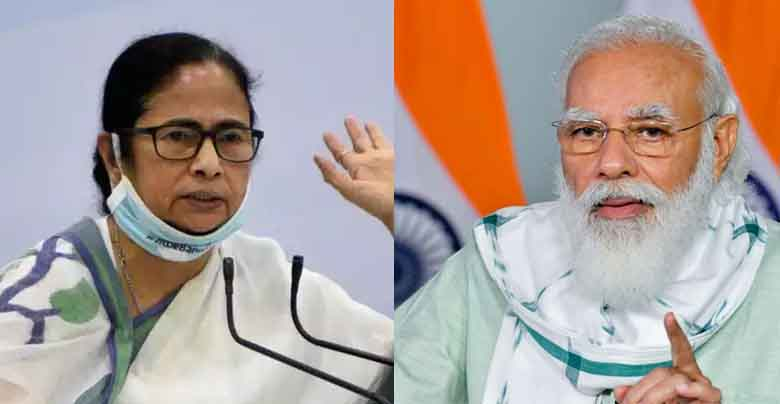 mamta b anerjee and narendr modi in west bengal election