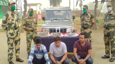 BSF nabbed three smugglers with 90 kg of raw metal